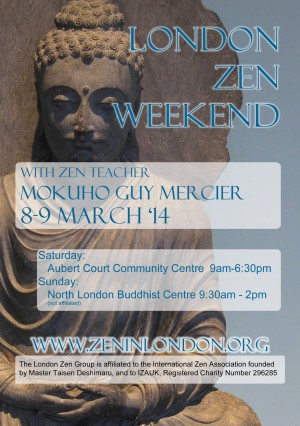 London Zen Weekend with Mokuho Guy Mercier
